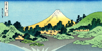 Hokusai, the transcended nature